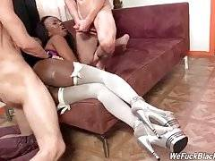 Black Cutie Gets Her Mouth And Ass Fucked 2